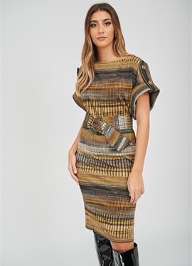 THE ZOE STRIPE PRINT - платье