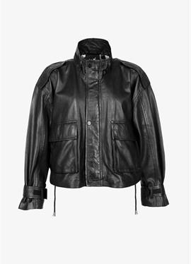 Стоячий воротник - кожаная куртка
