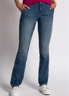 TARA, QUERNAHT, ZIERNIETEN, WEITE, GERADE - джинсы Straight Leg