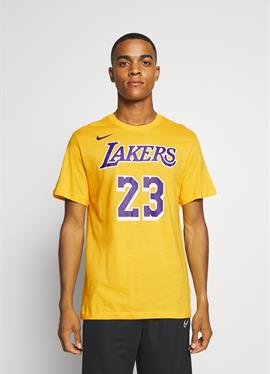 NBA LOS ANGELES LAKERS LEBRON JAMES NAME AND NUMBER TEE - Vereinsmannschaften