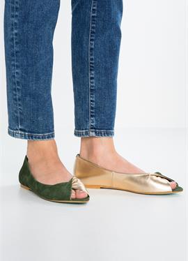 Туфли с открытым носком балетки
