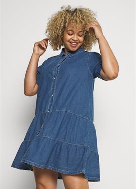 Шорты SLEEVE TIERED SMOCK DRESS - джинсовое платье