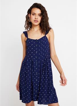 RUFFLE TIE STRAP RELEASE PLEAT DRESS - платье