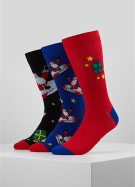 WILD FEET SANTA ROCKET SOCKS 3 PACK - носки