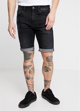 3301 SLIM 1/2 - джинсы шорты - elto black superstretch