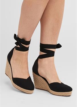 NAVY ANKLE TIE эспадрильи WEDGES - сандалии на высоком каблуке