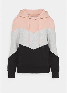ONLPEAR BLOCKING HOOD - пуловер с капюшоном