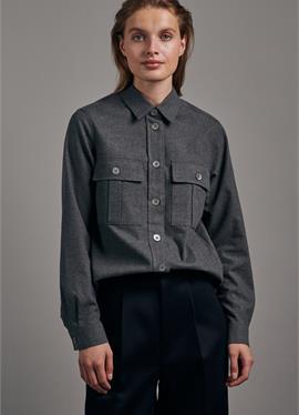 Стандартный крой - блузка рубашечного покроя