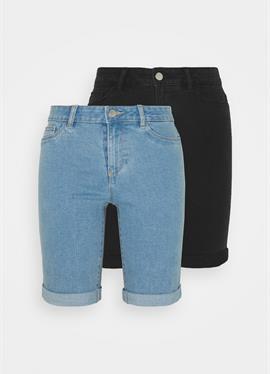 ONLSUN ANNEKMIDLONG 2 PACK - джинсы шорты