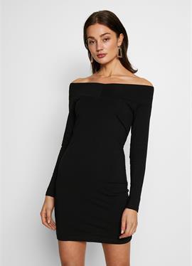 BASIC - OFF-SHOULDER MINI LONG SLEEVES DRESS - платье