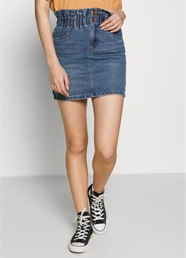 ONLMILLIE MINI PAPER SKIRT - джинсовая юбка