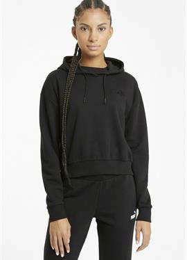 ESSENTIALS EMBROIDERED CROPPED - пуловер с капюшоном