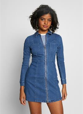 NMLISA ZIP DRESS - джинсовое платье