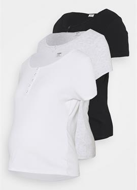 MATERNITY HENLEY шорты SLEEVE 3 PACK - футболка basic