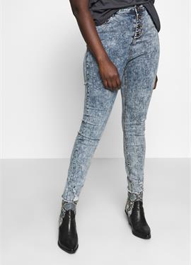 HIGH WAIST BUTTON FLY - джинсы Skinny Fit