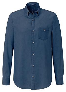 Джинсовая рубашка стандартный крой