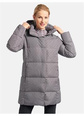 Длинная стеганая куртка