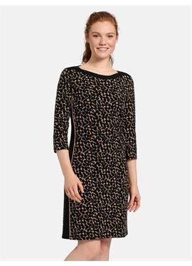 Платье с круглым вырезом из джерси