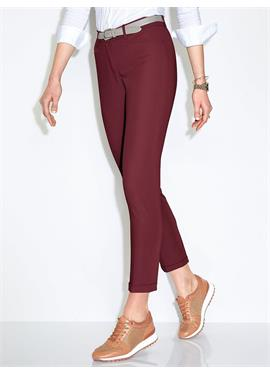 Knöchellange Modern Fit-Hose Modell Maron