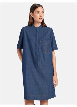 Джинсовое платье с короткими рукавами