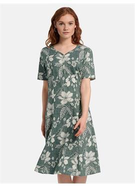 Платье из джерси с короткими рукавами
