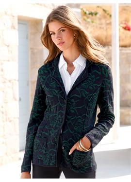 Пиджак вязаный с лацканами на воротнике