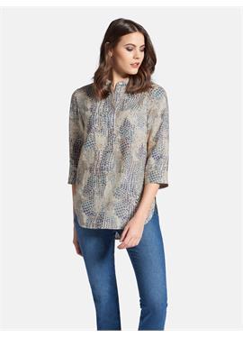 Блуза из 100% льна с рукавами 3/4