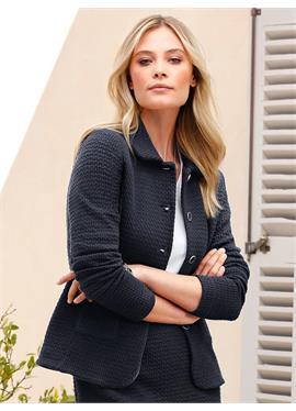 Jersey-Jacke mit Bubi-Kragen