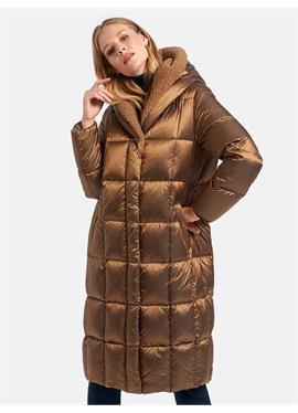 Стеганое пуховое пальто