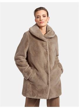 Пальто с закругленным воротником