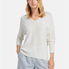 Пуловер с треугольным вырезом из 100% кашемира