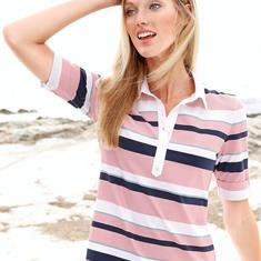 Рубашка-поло с рукавами 1/2, которые можно поднять