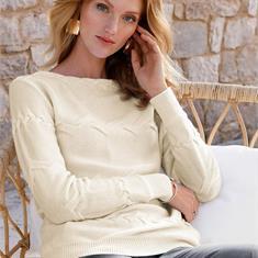 Пуловер aus 100% Schurwolle