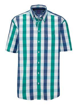 Рубашка в гармоничных цветах морской волны