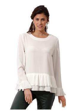 Блуза со складками по краю