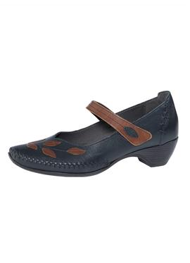 Туфли-лодочки с пряжкой и ручным швом