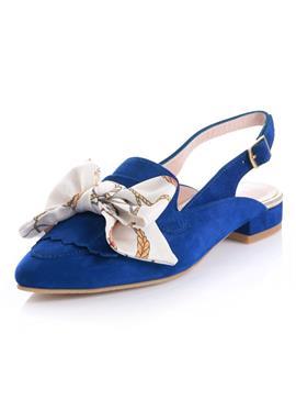 Строповые туфли-лодочки с накладной дужкой