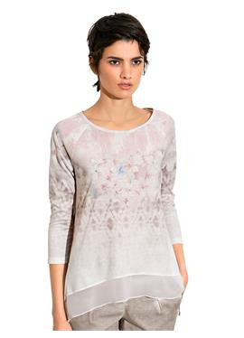 Блуза-рубашка с прозрачной спинкой