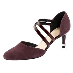 Туфли-лодочки с ремешками и украшением на пятке