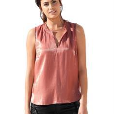 Блузка-топ с рюшами на вырезе