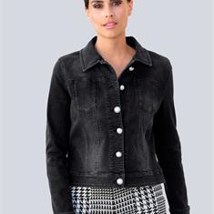 Джинсовая куртка модной свободной формы