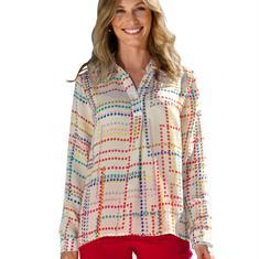 Блуза в точечный дизайн